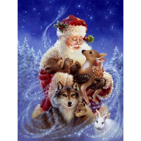 Image of 5D Diamond Painting Milu Christmas Animals