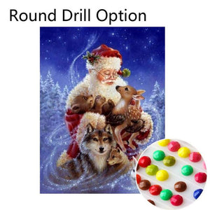 5D Diamond Painting Milu Christmas Animals