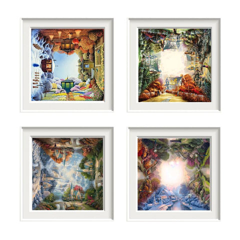 5D Diamond Painting Four Seasons Cottage