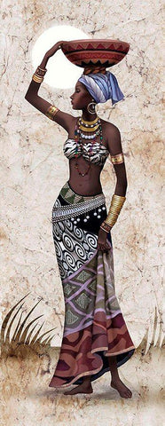 Image of 5D Diamond Painting African Woman - Long Canvas