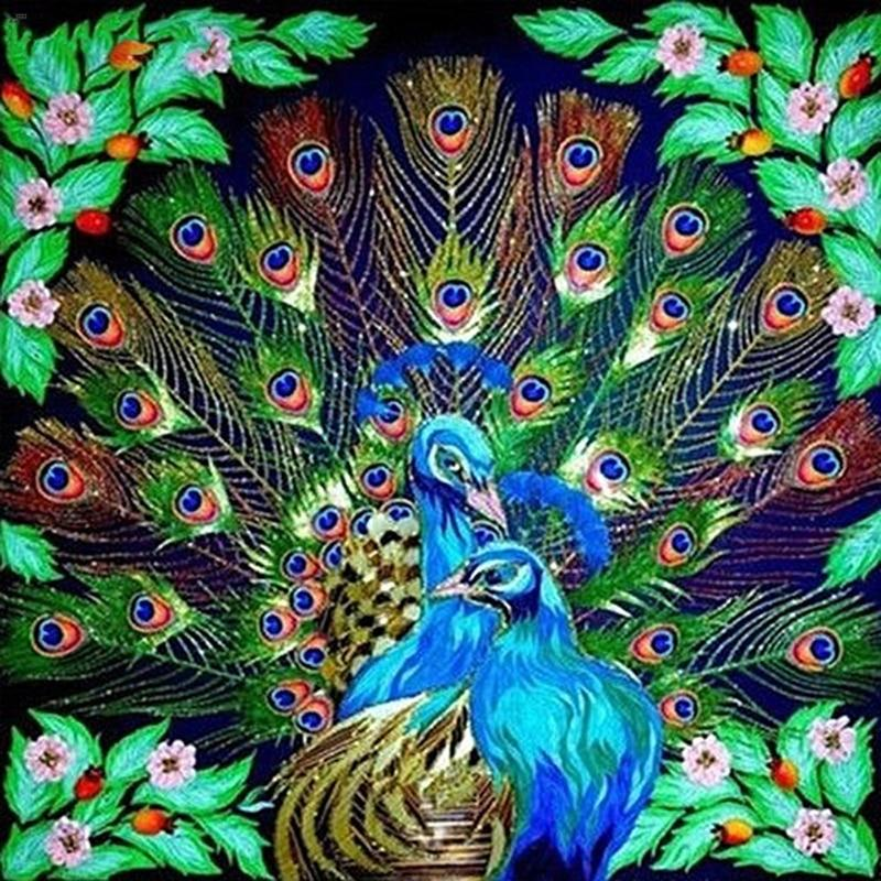 5D Diamond Painting Peacock Couple