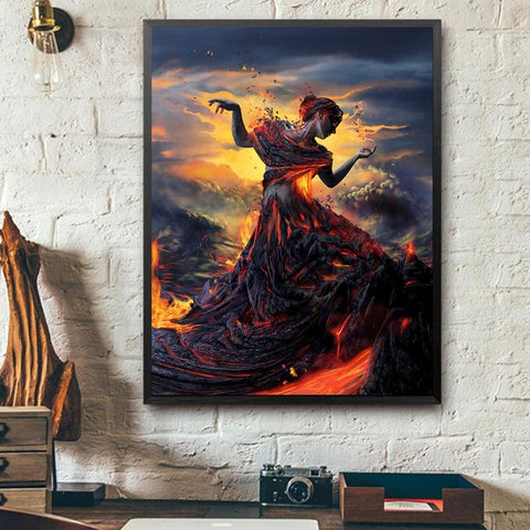 5D Diamond Painting Peacock Lava Queen