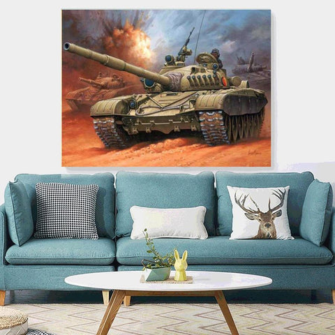 5D Diamond Painting Tank War