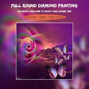 5D Diamond Painting Desert Rose and Butterfly