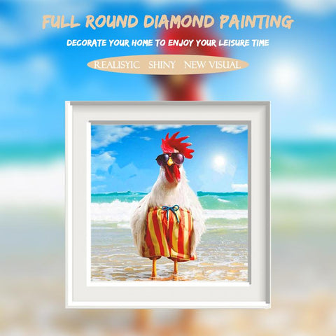 Image of 5D Diamond Painting Chicken in Holiday