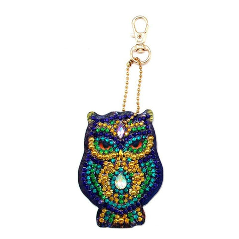 5D Diamond Painting Owl Keychains 5pc