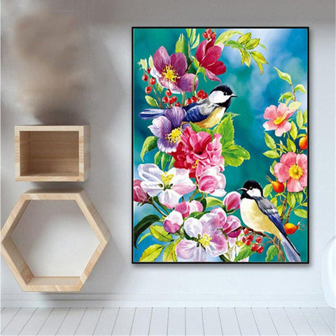 Image of Paint by Numbers Birds Painting