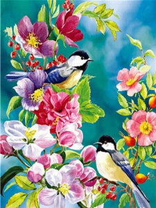 Paint by Numbers Birds Painting