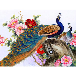 5D Diamond Painting Peacocks