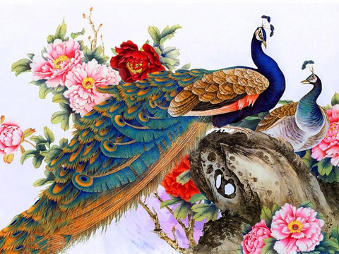 Image of 5D Diamond Painting Peacocks