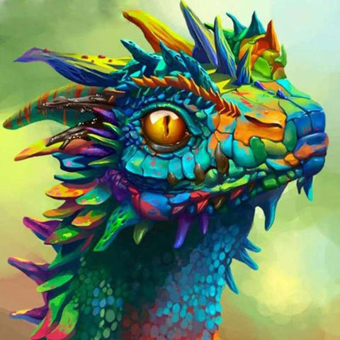 Image of 5D Diamond Painting Rainbow Dragon