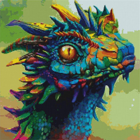 5D Diamond Painting Rainbow Dragon