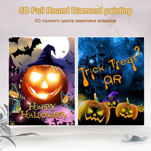 5D Diamond Painting Pumpkin Lantern