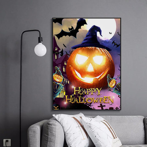 Image of 5D Diamond Painting Pumpkin Lantern