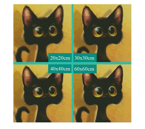 Image of 5D Diamond Painting Scared Cat