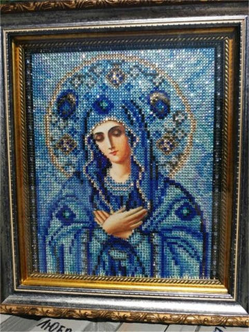 Image of 5D Diamond Partial Drill Sparkling - Mini Collection - Virgin Mary