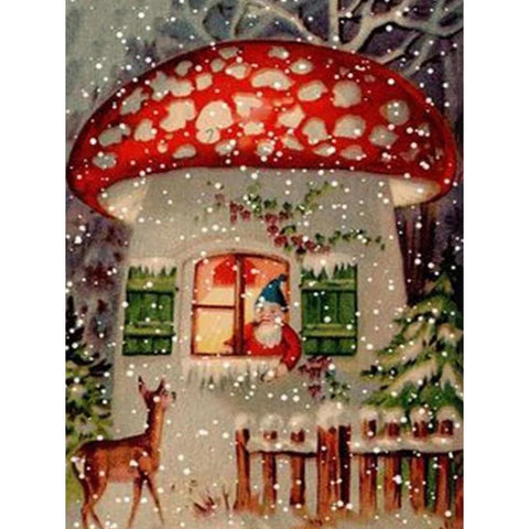 Image of 5D Diamond Painting Mushroom House