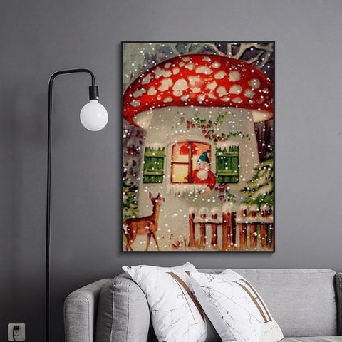 5D Diamond Painting Mushroom House