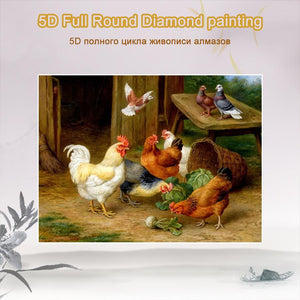 5D Diamond Painting Roosters **round drill only**