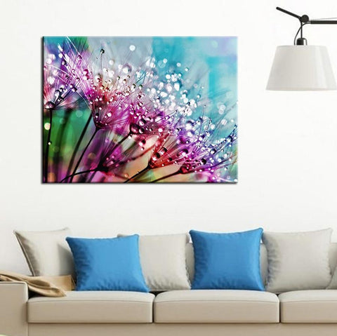 Image of 5D Diamond Painting Colorful Dandelions