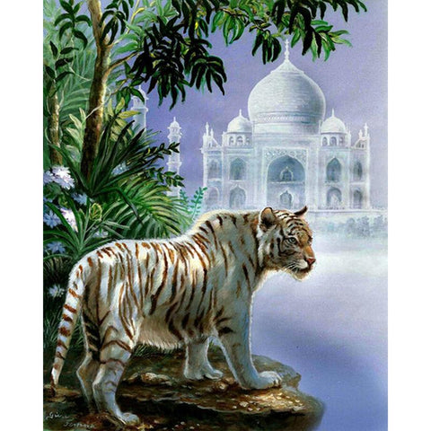 Image of 5D Diamond Painting Tiger Church