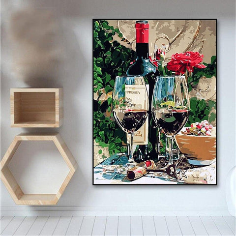Image of Paint by Numbers Glasses of Wine