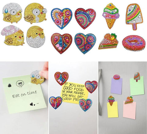 Image of 5D Diamond Painting Magnet Sticker (4pcs)