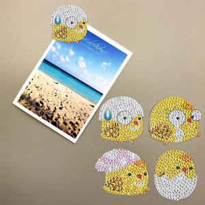 5D Diamond Painting Magnet Sticker (4pcs)
