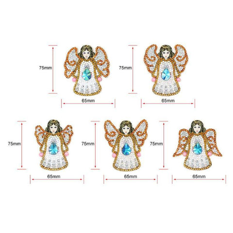 Image of 5D Diamond Painting Special Shaped Angel (5pcs)