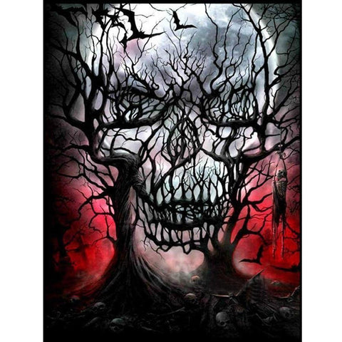 5D Diamond Painting Horror Skull