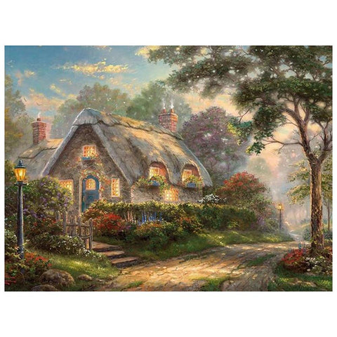 Image of 5D Diamond Painting Nature Cottage