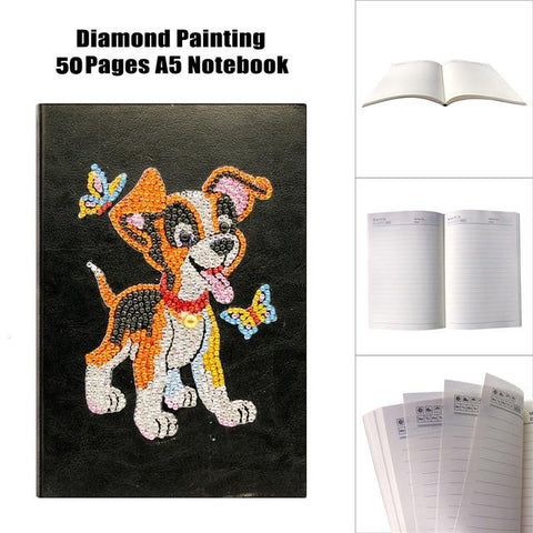 5D Diamond Painting Notebooks Size A5 Partial Sparkling Drills