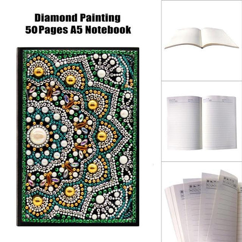 Image of 5D Diamond Painting Notebooks Size A5 Partial Sparkling Drills