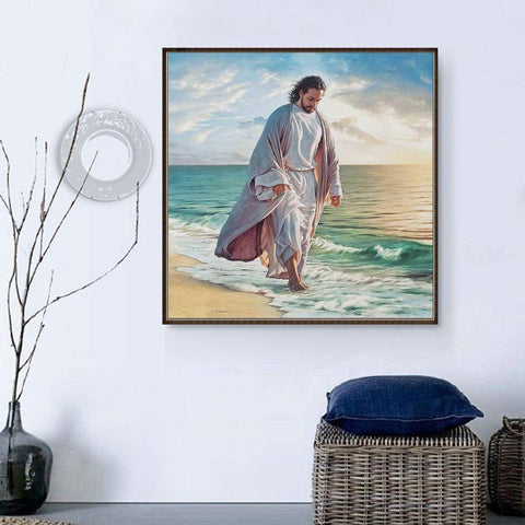 Image of 5D Diamond Painting Jesus in the Seaside