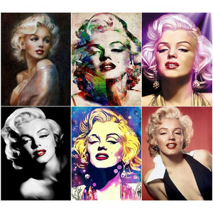 "5D Diamond Painting ""Marilyn!"" - Round Drills Only"