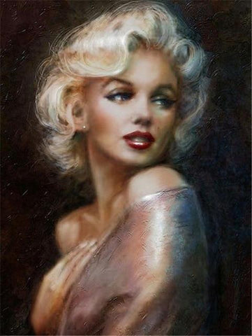 "Image of 5D Diamond Painting ""Marilyn!"" - Round Drills Only"
