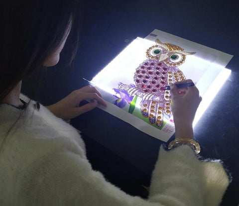 Image of 5D Diamond A5 LED Light Tablet Three Levels - Ultrathin