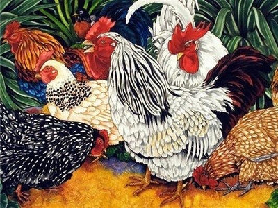 5D Diamond Painting Roosters, Hens, and Chicks Mini Collection