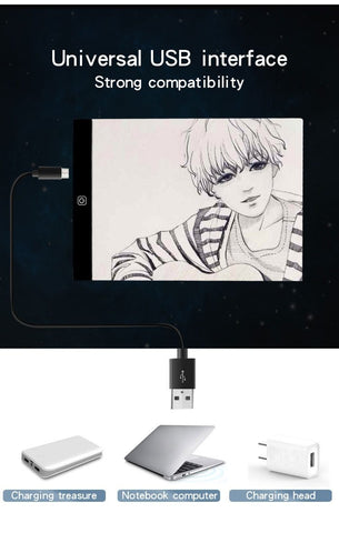 5D Diamond Painting Portable Dimmable Light Tablet A4
