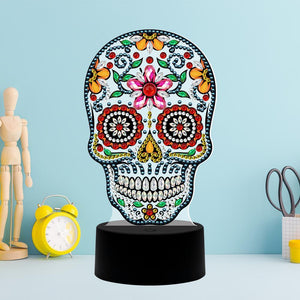 5D Diamond Painting Day of the Dead Lamp