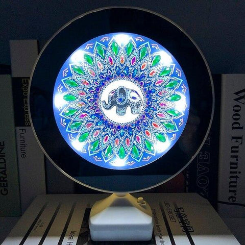 5D Diamond Painting Mirror and Lights - Partial Drill