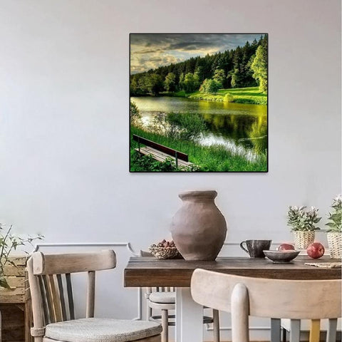 Image of 5D Diamond Painting Forest Landscape