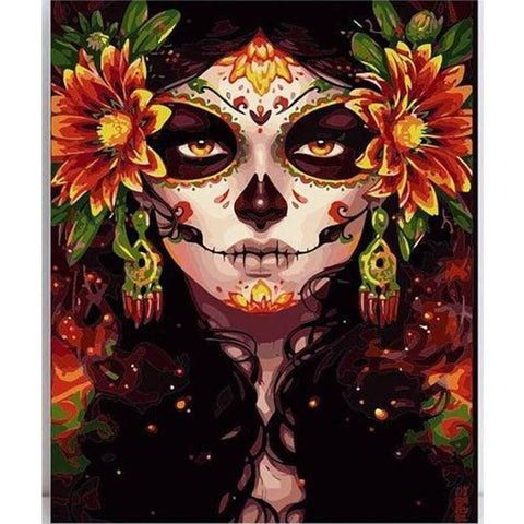 5D Diamond Painting Day of the Dead Woman