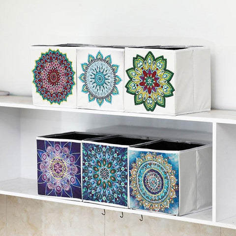 Image of 5D Diamond Painting Storage Box - Mandela - Partial Special Shaped Drill