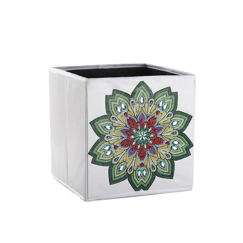 5D Diamond Painting Storage Box - Mandela - Partial Special Shaped Drill