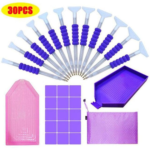 Image of 5D Diamond Painting 30 Piece Accessories Kit