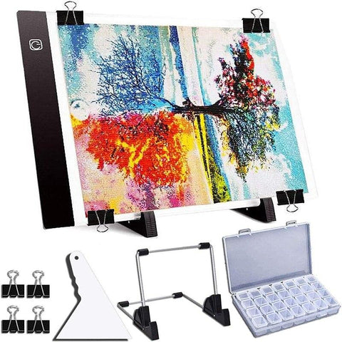 5D Diamond Painting USB Powered Light Board, Stand, and Accessories