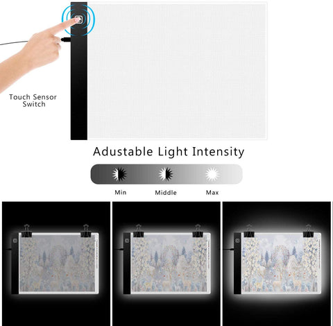 Image of 5D Diamond Painting USB Powered Light Board, Stand, and Accessories