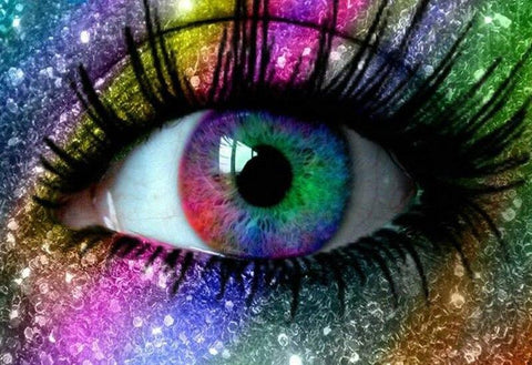 Image of 5D Diamond Painting Rainbow Glitter eye
