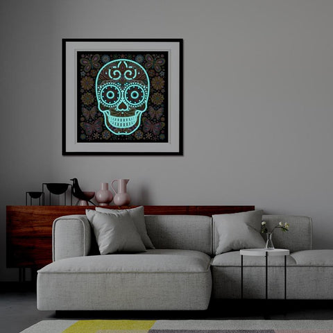 5D Diamond Painting Glow in the Dark Skull